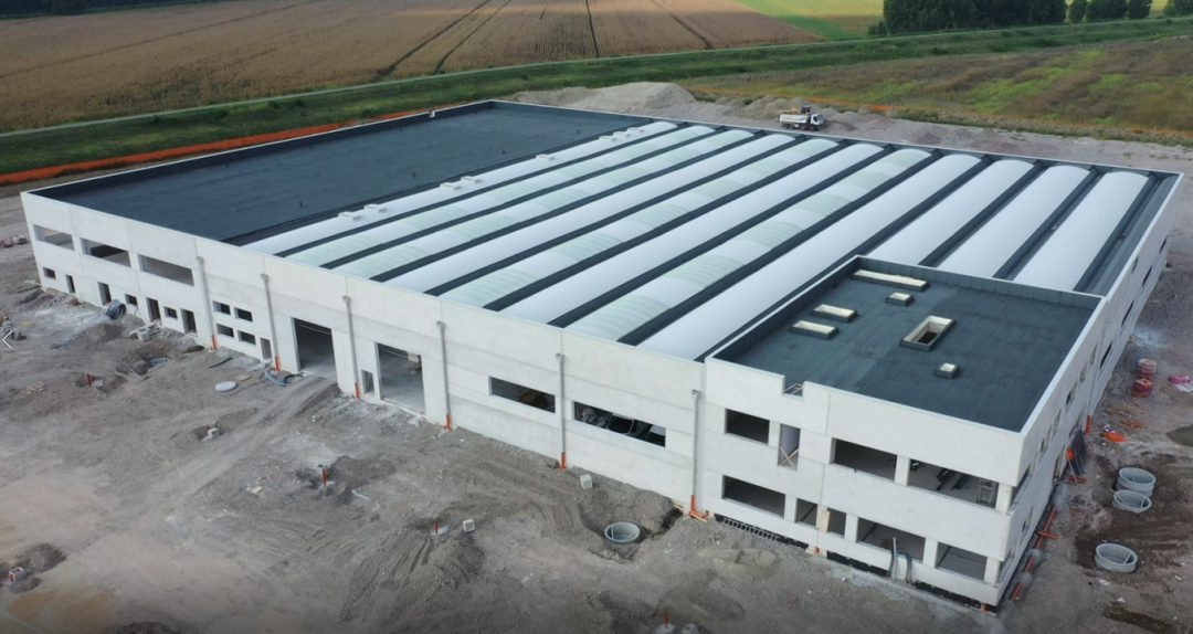 New industrial facility with offices